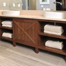 Contemporary Bathroom by Hefner Woodworking + Sorkin Design