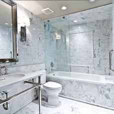 Eclectic Bathroom by Sweetlake Interior Design LLC