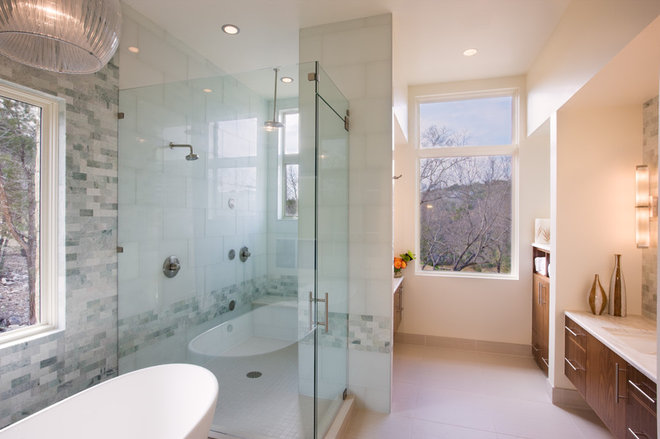 Contemporary Bathroom by Shoberg Custom Homes