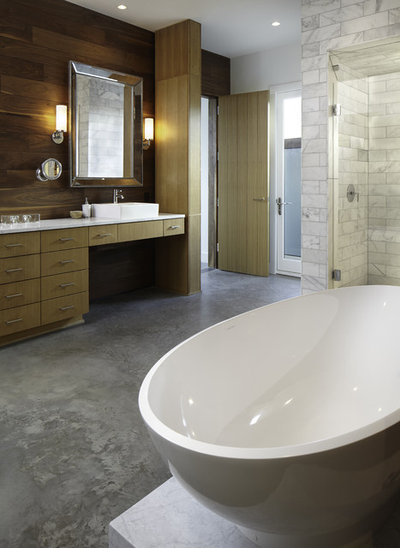 New Contemporary Bathroom by Cornerstone Architects