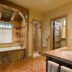 Brasada Ranch Home Master Bath Suite Full View Rustic
