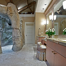 Transitional Bathroom by DESIGN GUILD HOMES