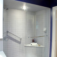 contemporary bathroom by Laura Pollard, Designer/PM, Bravehart Building