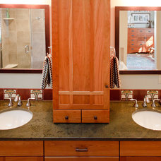 Craftsman Bathroom by Jennifer Hendrickson Interiors