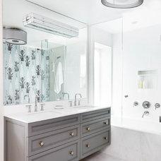 Transitional Bathroom by Meghan Carter Design Inc