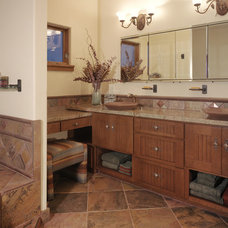 Traditional Bathroom by The Open Cupboard