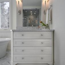 Transitional Bathroom by Veranda Estate Homes & Interiors