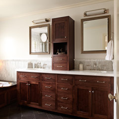 traditional bathroom by Carolyn Rebuffel Designs