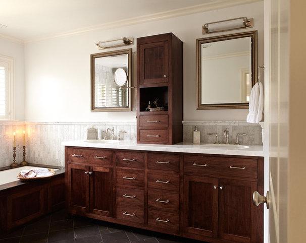 Traditional Bathroom by Carolyn Rebuffel Designs