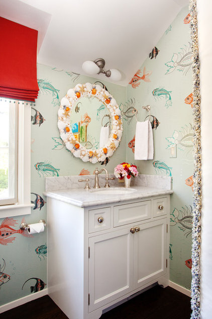 Eclectic Bathroom by House of Ruby Interior Design