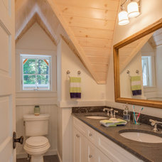 Farmhouse Bathroom by John Cole Architect