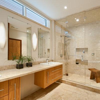 Bathroom - contemporary mosaic tile bathroom idea in Ottawa