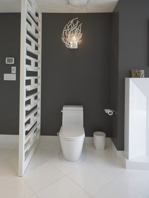 Toilet decorating ideas houzz for Toilet room decor