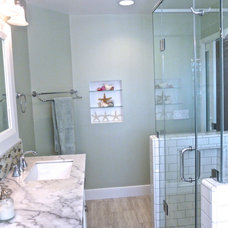 Transitional Bathroom by M Interiors