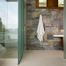 Rustic Bathroom by Sutton Suzuki Architects