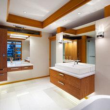 Contemporary Bathroom by Don Stuart Architect Inc