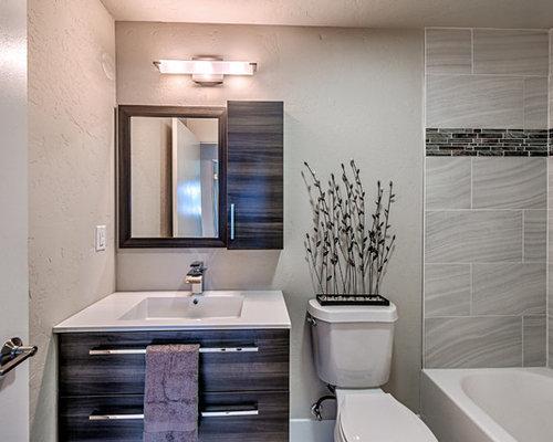 Skandinavische badezimmer mit grauen schr nken ideen for Skandinavische einrichtungsideen