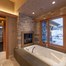 Rustic Bathroom by Kelly & Stone Architects