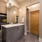 Wood Tile Shower Contemporary Bathroom Dallas By