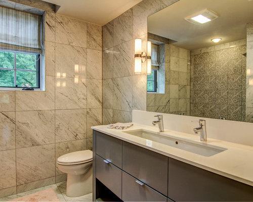 Kids Bathroom Design Ideas, Renovations & Photos with Onyx Benchtops