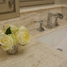 Traditional Bathroom by Susan Brunstrum of SWEET PEAS DESIGN INC