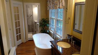 Historic Colonial Master Bathroom Renovation - Brookfield Center