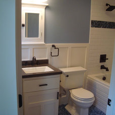 Craftsman Bathroom by Creative Eye Design + Build, LEED AP, CGBP