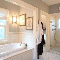 Farmhouse Bathroom by KISTLER & KNAPP BUILDERS