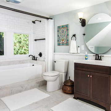 Historic Four Square Renovation Guest Bathroom