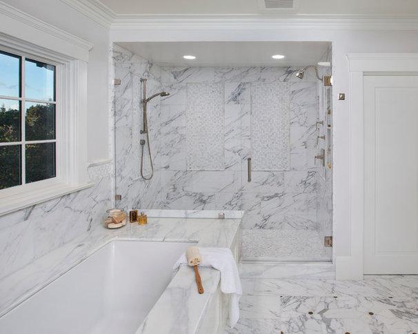 Mediterranean Bathroom by Allwood Construction Inc
