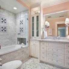Mediterranean Bathroom by Allwood Construction Inc
