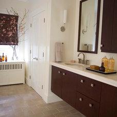 Transitional Bathroom by Taste Design Inc
