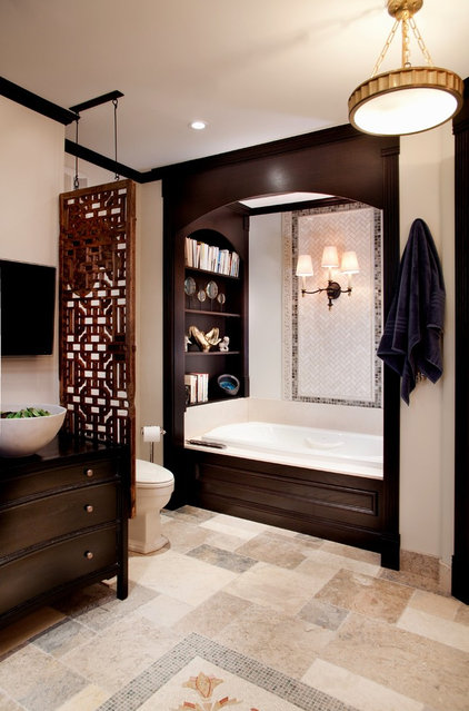 traditional bathroom by Lisa Wolfe Design, Ltd