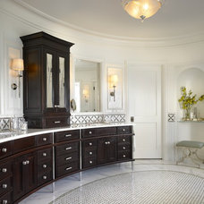 Transitional Bathroom by Morgante Wilson Architects
