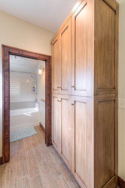 transitional bathroom by HighCraft Builders