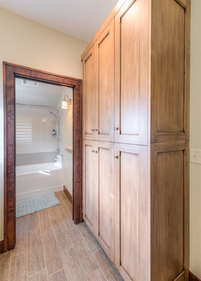 Inspirational Transitional Bathroom by HighCraft Builders