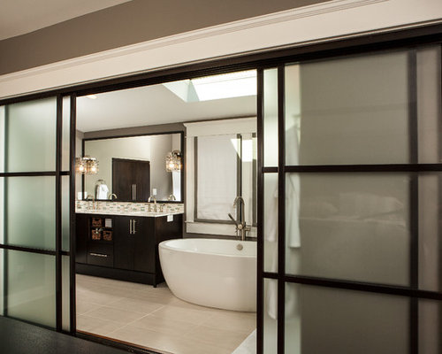 Home Decor Sliding Doors: Bathroom Sliding Door Home Design Ideas, Pictures, Remodel
