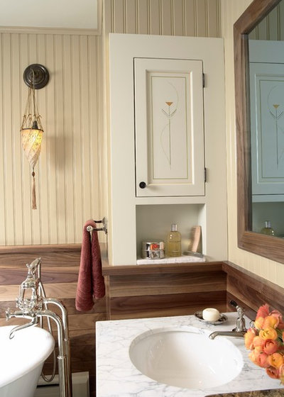 Farmhouse Bathroom by Meriwether Inc
