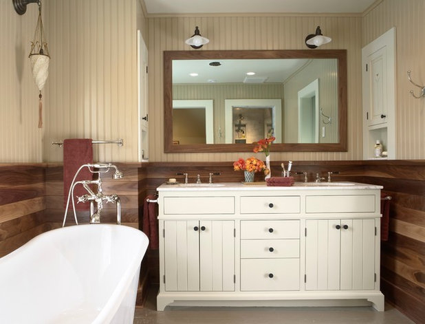 Trend Farmhouse Bathroom by Meriwether Inc