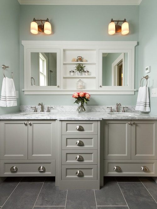 Bathroom design ideas remodels photos for Colors for bathroom cabinets