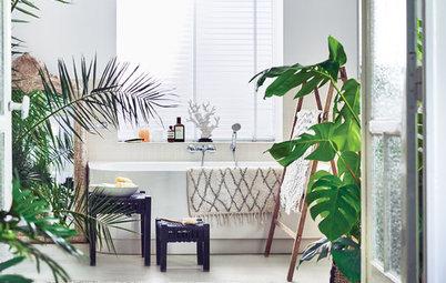 20 fräscha idéer på hur du kan ha gröna växter i badrummet