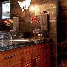Contemporary Bathroom by Fine Design Interiors, Inc