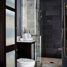 Transitional Bathroom by Van Nice Design