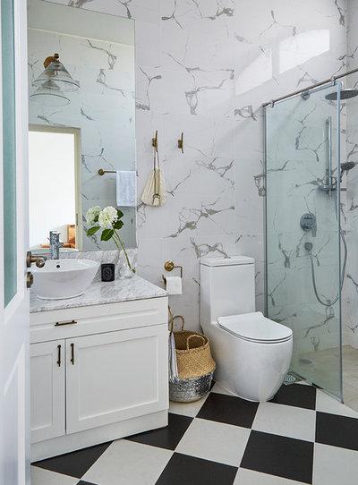 Fusion Bathroom by E & A Interiors