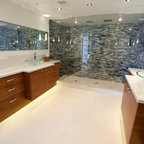 Luxury Timber Frame Contemporary Bathroom Vancouver