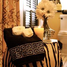 Traditional Bathroom by Angela Marchetti of Crown Avenue Interiors