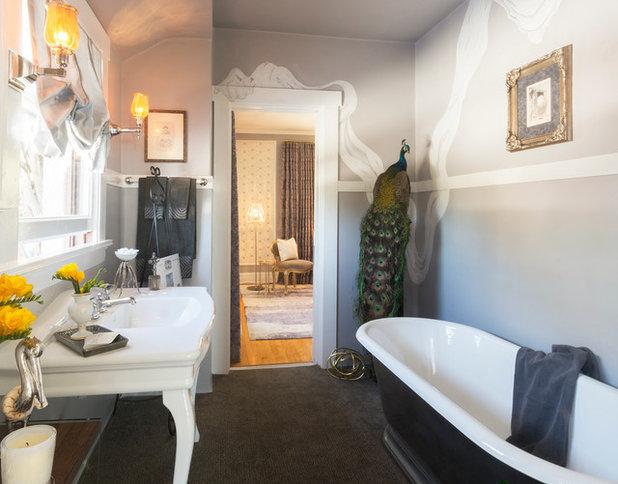 Vintage Mediterranean Bathroom by Carolyn Reyes