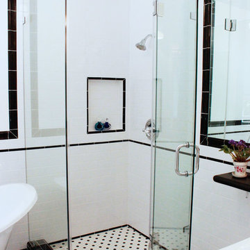 Hollywood Hills, Art Deco bathroom