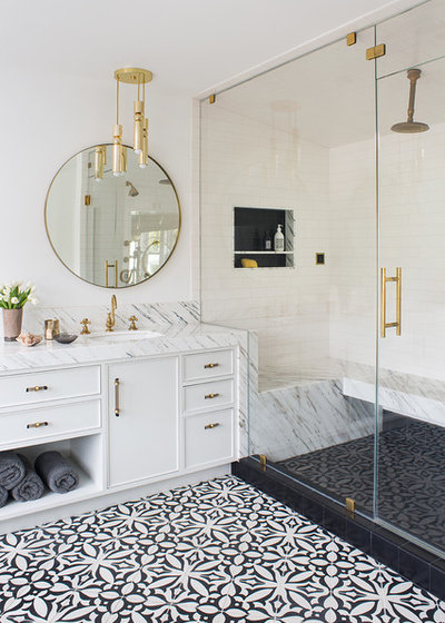 Transitional Bathroom by Deirdre Doherty Interiors