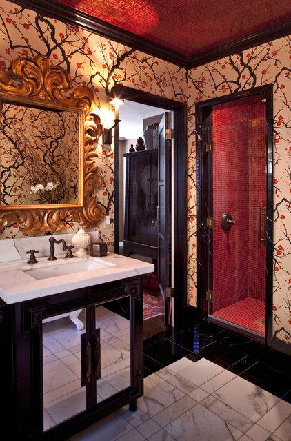 Eclectic Bathroom by Elizabeth Gordon